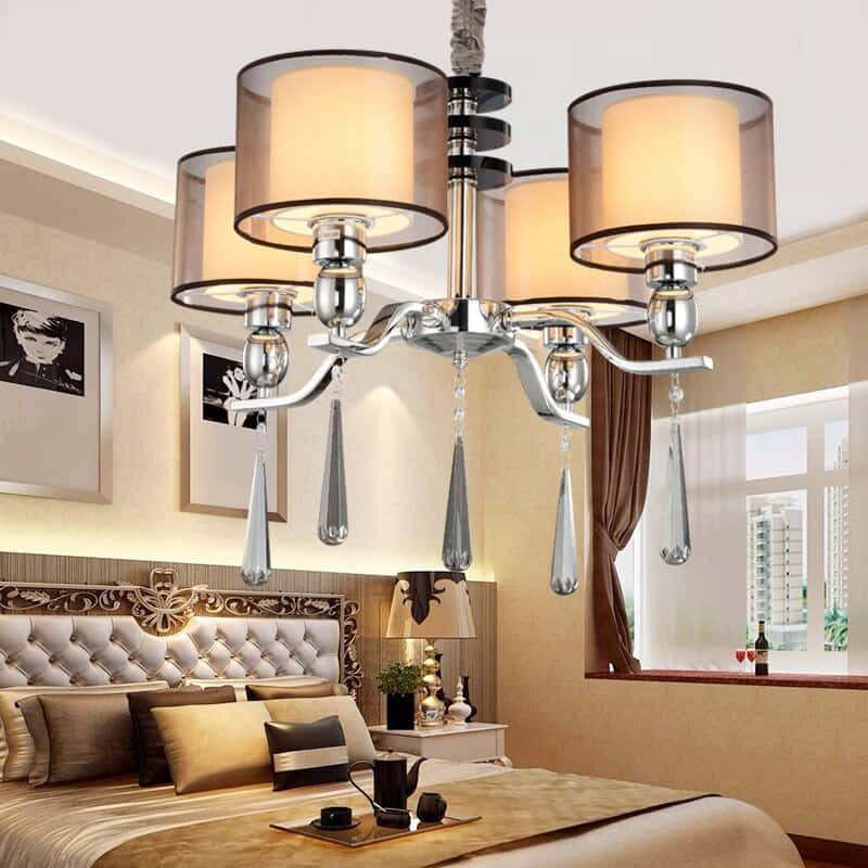 Chandeliers-of-Crystal-lampshade