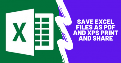 Save Excel File as PDF and XPS