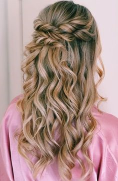 Hairstyle With Semi-Braids